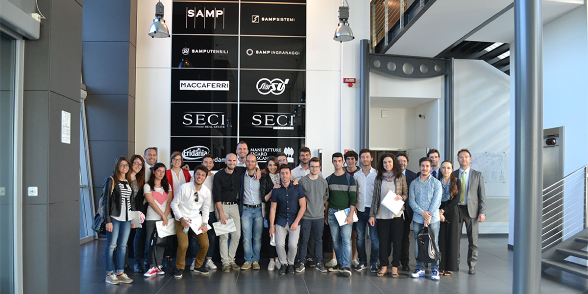 Students of the UnivPM and SAMP members